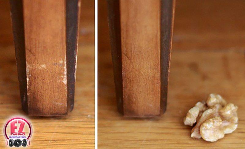 از بین بردن خرابی وسایل چوبی با گردو!