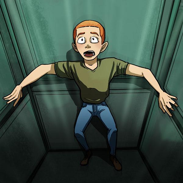 آسانسور زنده ماندن در موقعیت های خطرناک