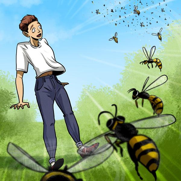 زنبورها زنده ماندن در موقعیت های خطرناک