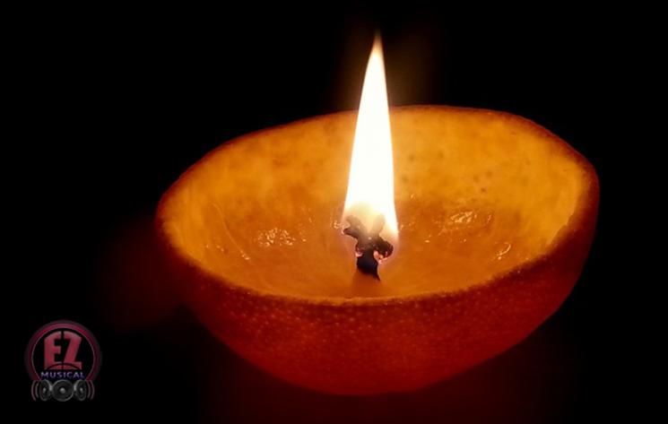 درست کردن شمع با استفاده از مرکبات