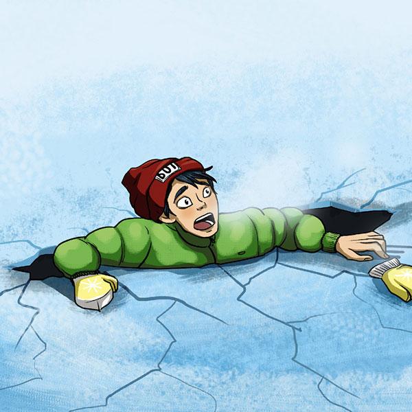 یخ دریاچه زنده ماندن در موقعیت های خطرناک