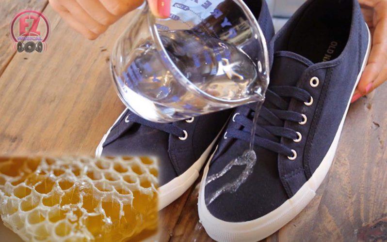 ساخت کفش ضد آب با موم