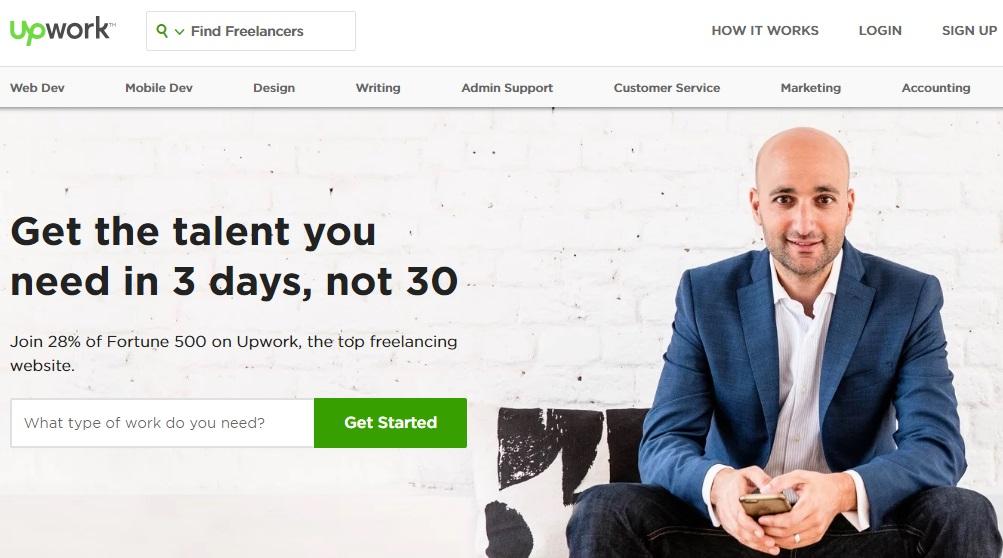 upwork معرفی راه های درامدزایی دیجیتال و دورکاری