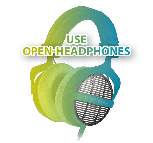 Open HeadPhones پنج پیشنهاد در جهت میکس بهتر با هدفون