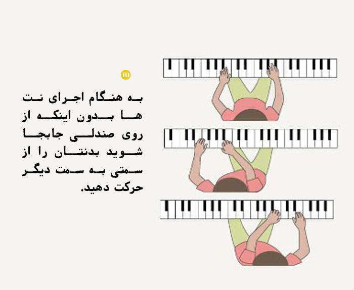 PN 4 10 نکته مهم در مورد بهترین حالات نشستن پشت پیانو