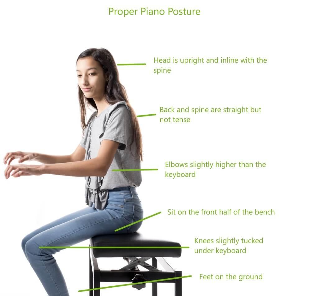 Piano Posture ۱۵ نکته در یادگیری پیانو برای افراد مبتدی